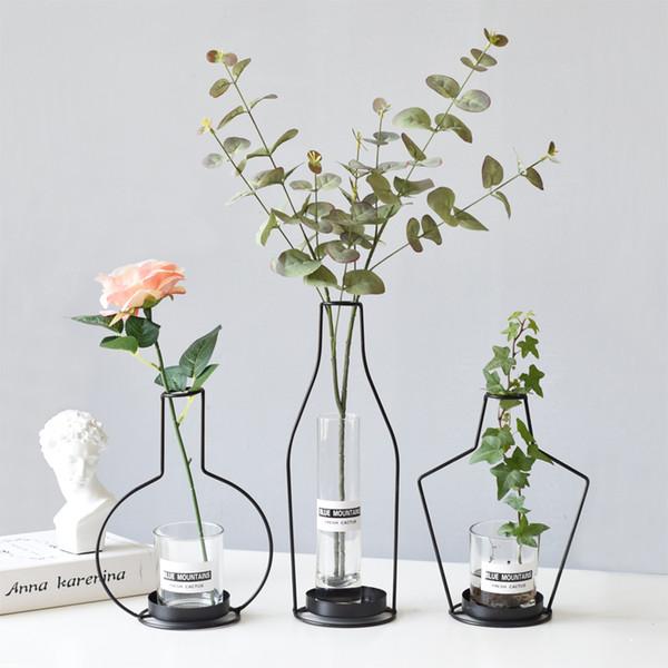 Compre Envase Nordic Iron Hydroponic Green Moderno Minimalista Florero De Moda Contenedor Creativo Para Arreglos Florales A 3712 Del Ilexer