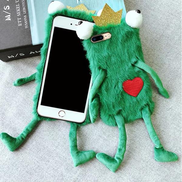 GroßhandelsHandyfalloberteil Handy-Fälle Netter Plüschfrosch iphonexs maximales X7plus Paar schützendes case219