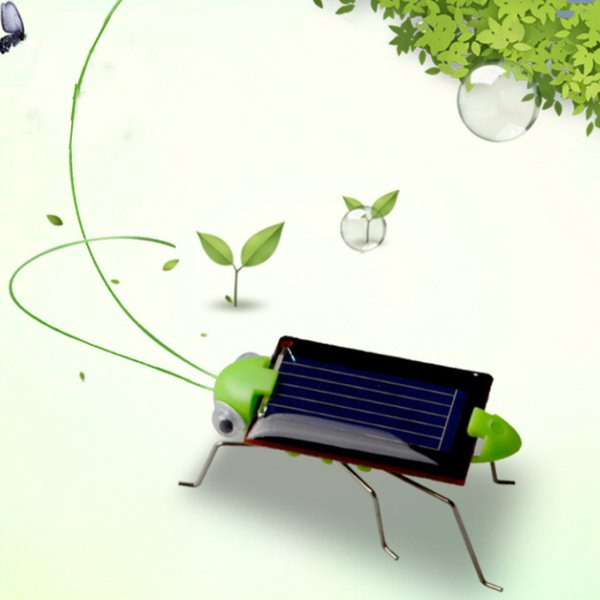 Caliente moda Solar saltamontes educativo educativo robot de juguete educativo gadget juguete solar juguete solar para niños T2G5022