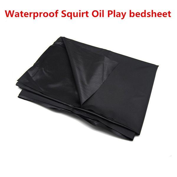 ropa de cama sábana colcha impermeables para las mujeres orinar chorro de aceite chorros juego sexual para parejas sexuales juguetes fetiche negro LWW-XY8000330