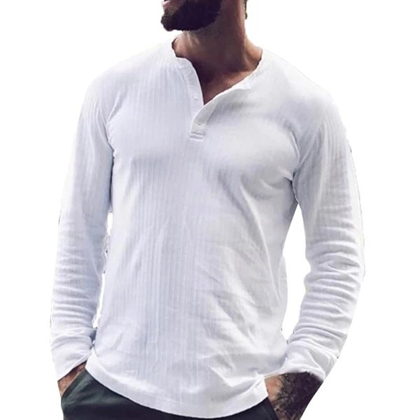 Men/'s Slim Fit V Neck Long Sleeve Muscle Tee T-shirts Casual Shirts Tops Blouse