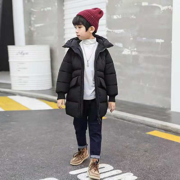 For 4-13 Yrs Boys Clothing 2018 New Brand Baby Boy Down Outwear Kids Warm Outerwear Mid Long Coats Children Boys Winter Parkas