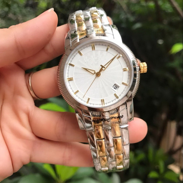 entity BELT sapphire glass T97 DATE 1853 Very nice 40MM CASE fashion men watch wholesale luxury bnd new Stainless steel mens watches