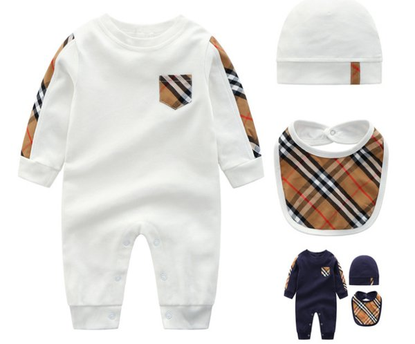 Retail spring and autumn 3 sets of jumpsuits Baby suit with long sleeves Baby hayi new clothes 03-24mo