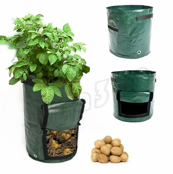 New Movable Grow Planter Bag Potato Cultivation Planting Garden Strawberry Pots Planters Outdoor Planting Grow Bag Planters I493