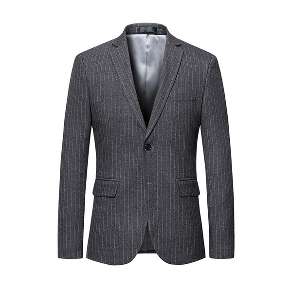 meilleur service baaec becc2 2019 Mens Striped Blazer Jacket 2019 Luxury Brand Single Breasted Suit  Blazer Men Wedding Party Blazers Jackets Veston Homme Costume From ...