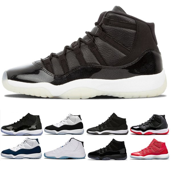 2019 11 cap and gown 11s basketball shoes men women prom night sneakers black gym red midnight navy concord bred trainers buy