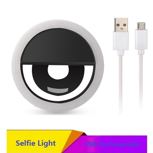 USB Ring Light Selfie Makeup LED Sefile Light for Mobile Phone Samsung iPhone With Charger Ringlight Portable Flash Camera Selfie Lamp