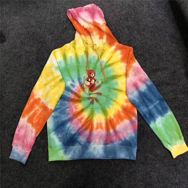 Travis Scott Astroworld World Women Men Hoodies 1:1 Best Quality Tie Dyeing Sweatshirts Mens Travis Scott Hoodie Pullover
