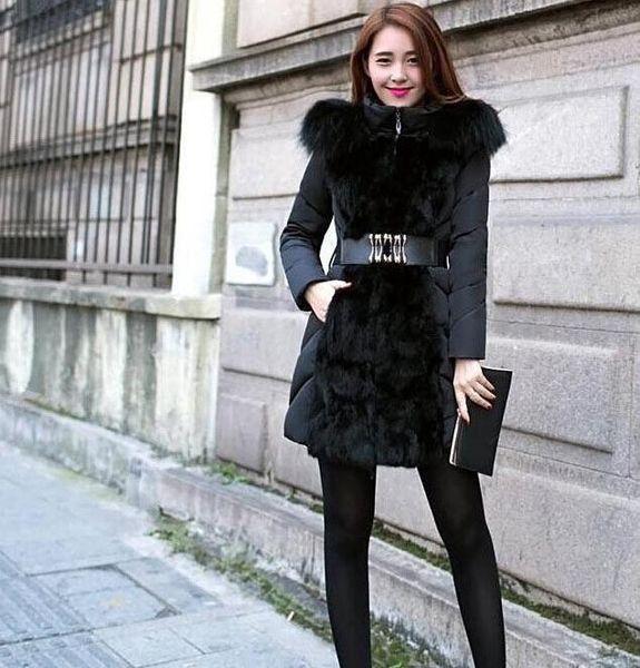 New fashion winter coat women's luxury style women's winter long down jacket and Parkas jacket thick women's elegant fur collar coat M-XXL