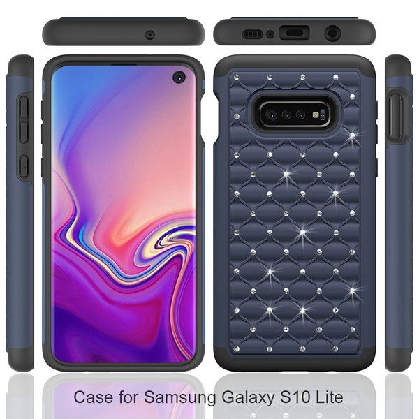 Dual Layer Glitter Bling Diamond Hybrid Protective Case for Samsung Galaxy S10 5G Plus S10e S9 S8 Note 8 9 Armor Cover