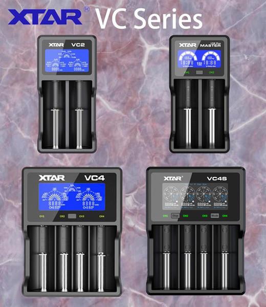 힙 충전기 Xtar 2 2 Plus 4 VC2S VC4S 배터리 충전기 10440/16340/14500/14650/18350/18500/18650/18700/21700/20700/17500 Chargers C ...