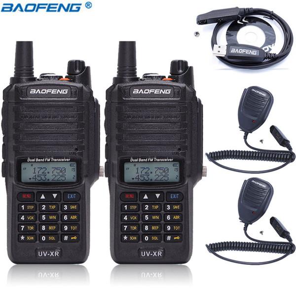 2 Шт. Baofeng UV-XR 10 Вт 4800 мАч Аккумулятор IP67 Водонепроницаемый Портативный Walkie Talkie 10 КМ Long Range Высокой Мощности Портативный Двухстороннее Радио