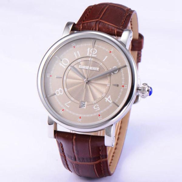 Debert 43mm Mode graues Zifferblatt mechanische Uhr 21 Juwelen Miyota Leather Date Automatic Herrenuhren Luxus Top-Marke