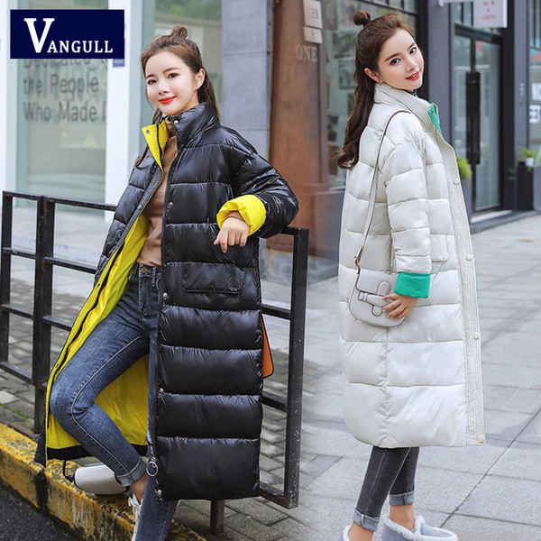 Vangull New 2019 Parkas Female Women Winter Coat Thickening Cotton Jacket Parkas for Women Winter Long Thick Warm Cotton Outwear