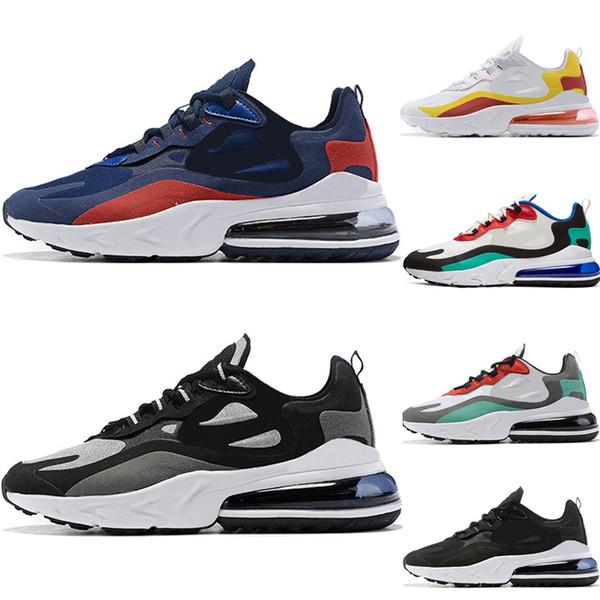 nike air max 270 react Tasarımcı erkekler koşu ayakkabıları tepki en kaliteli üçlü siyah beyaz gri moda erkek eğitmenler nefes spor sneakers hızlı kargo 40-46