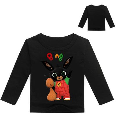 2020 Niños camiseta Jongens chicos adolescentes Ropa 2-12years conejito Bing tapón traje del conejo niñas de manga larga Tops camisetas del muchacho