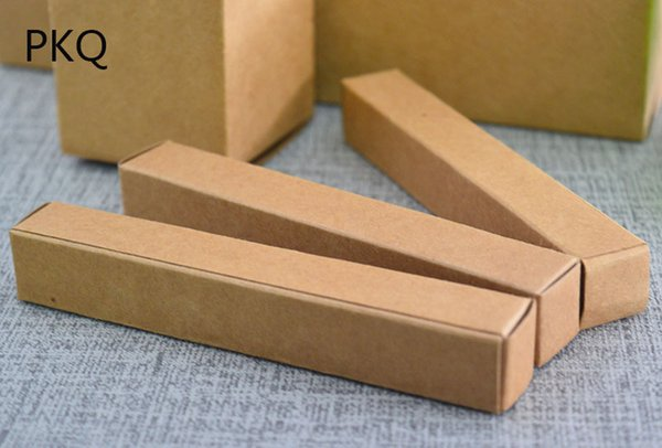 50pcs Kraft Paper Small Gift Packaging Box Brown Craft Paper Lipstick Cosmetic Packing Boxes Perfume Bottle Package Box2*2*9.8cm
