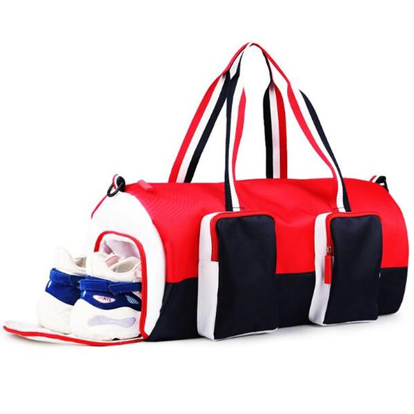 Bolsas de gimnasia grandes a prueba de agua Bolsas de deporte para mujer  con compartimiento de nylon Viaje al aire libre Mano Equipaje Chica Fitness  Hombro ... 969f249e704dc