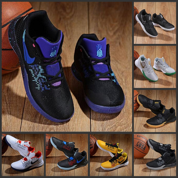 2019 Hot Sale Irving 2 Basketball Shoes Kyrie Sports abridged edition Mens Shoes Black Outdoor Trainers Running Shoe Training Sneakers 40-46