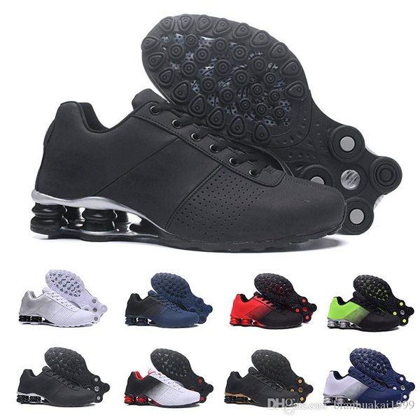 Sell 2019 New Shox Deliver en Running Shoes Cheap Famous DELIVER OZ NZ Athletic Sneakers Black White Blue Increased Air Cushion Shoes