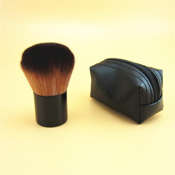 HOT Makeup Short Handle Metal Bottom Mushroom Brush M 182 rouge brush \blusher brush+Leather bag free shipping