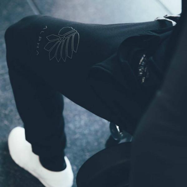 2017 HOMBRES pantalones de chándal pantalones de algodón cordón elástico cómodo pantalones jogger flexibles símbolo bordado
