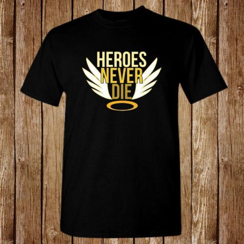 Heroes Never Die Mercy Top tee Video Game Size S-5XL T-shirt