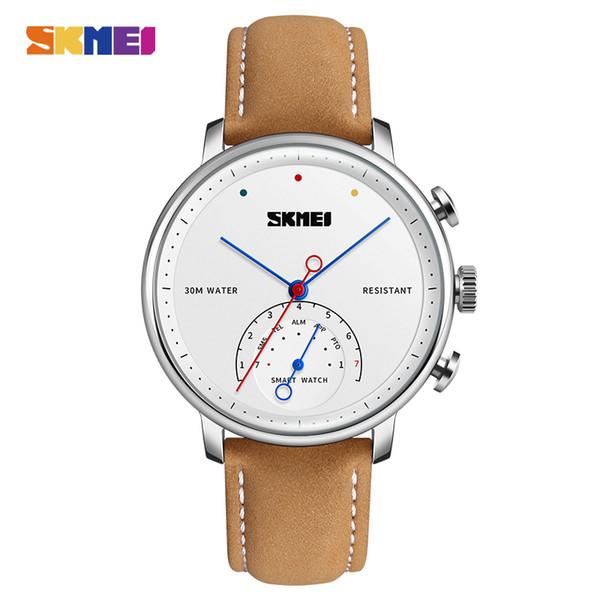 Skmei relógio dos homens inteligentes relógio das mulheres auto-tempo chamada mensagem lembrete de quartzo relógios de pulso pedômetro esportes relógios h8