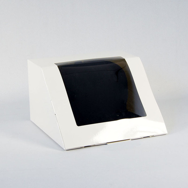Caja de papel, Empaquetado de empaque Presenta, Caja de regalo, Caja de regalo, Negro, blanco, para Hip Hop Gorra de béisbol, Cajas de regalo ZC0547