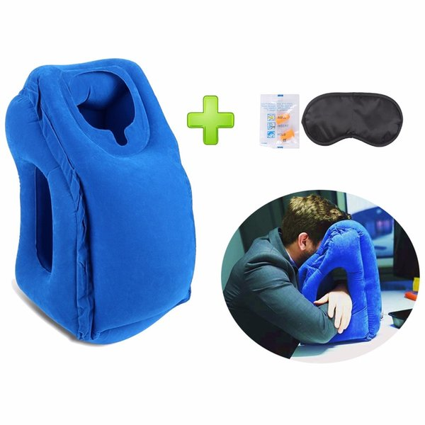 Hot-sale Newest Designed Travel Pillow Neck Pillow For Airplanes, Car Sleeping/Train/Office Nap -- Inflatable Travel Pillow C18112301