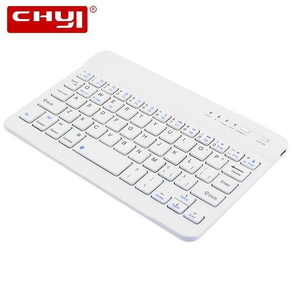 CHYI Bluetooth Keyboard Wireless Ultra-slim Mini Keyboard For Ipad Phone Laptop Professional Ultra-thin Board For Multi-system