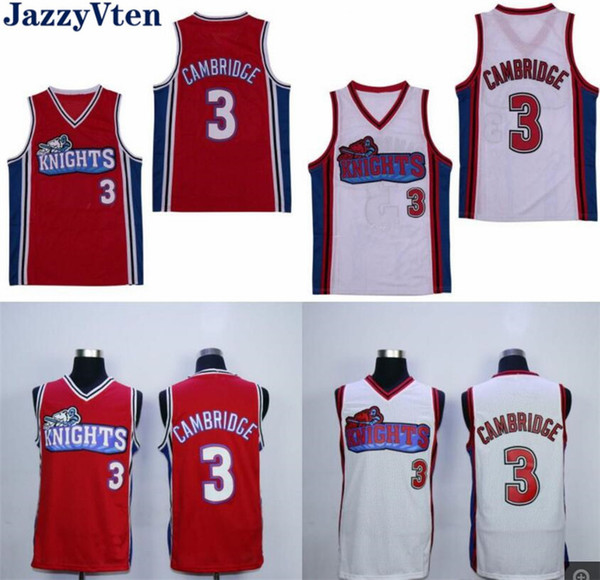 Top Quality #3 Like Mike Movie Los Angeles Knights Cambridge Jersey Red White Movie Jersey Hot wholesale price