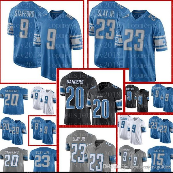 finest selection a8d64 adff2 2019 20 Barry Sanders Detroit Lions Jersey Top Sales 9 Matthew Stafford 23  Darius Slay Football Jerseys Black Blue White Grey From Big_red_shop, ...