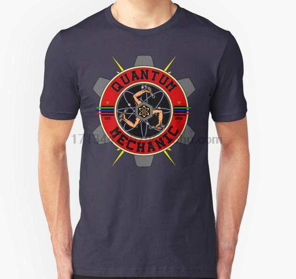 Camiseta masculina de manga curta QUANTUM MECHANIC T Shirt (1) Camiseta feminina topos