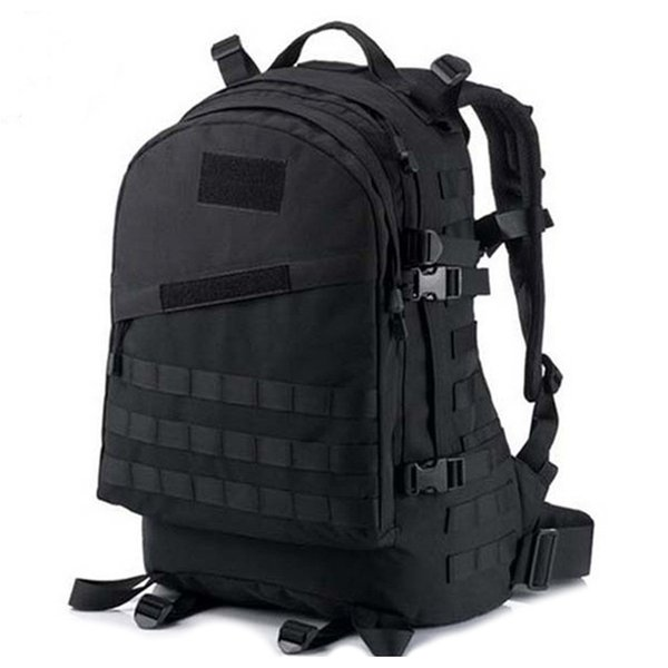 BDKCSFB 2019 nuevo 40L 600D geçirimsiz Oxford tela militar mochila acua camuflaje bolsa de viaje Negro