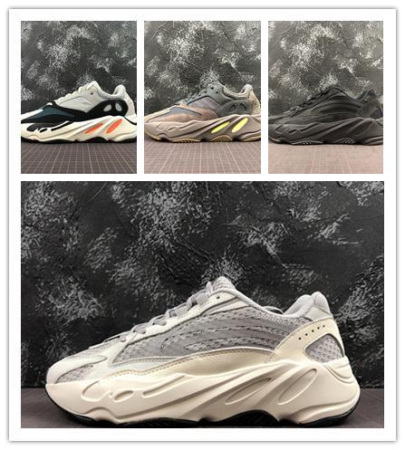 Kanye West 700 Wave Runner Кроссовки Мужчины Женщины 700-е годы V2 Статические кроссовки Mauve Спл
