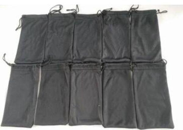 Été lunettes de soleil noir 16.5 * 7 * 5.5CM lunettes sac affaire étui à lunettes femmes et homme lunettes de soleil sacs livraison gratuite 20pcs / lot 16.5 * 7 * 5.5CM