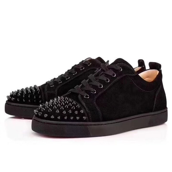 2019 Luxury trainers Junior Red Bottom Designer Sneakers Low Cut Spikes For Men and Women Party shoes with Receipt dust bags extra Spikes