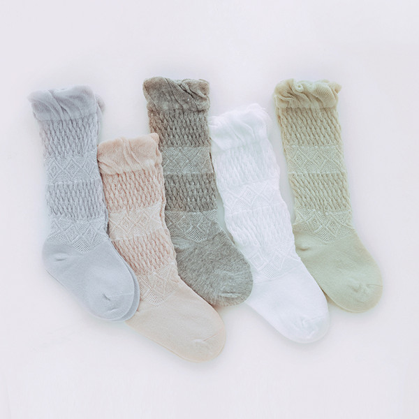 1 Pair Newborn Baby Soft Socks Lovely Toddler Infant Children Kid Girls Boys Mesh Long Socks 0-5 Years Summer Fashion 2019 New