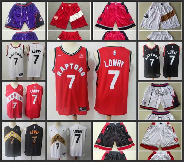 2020 Мужчины ТоронтоХищники 7Кайл Лоури баскетбольное прошитой Вышивка Новый городИзданиеНБА Джерси шорты