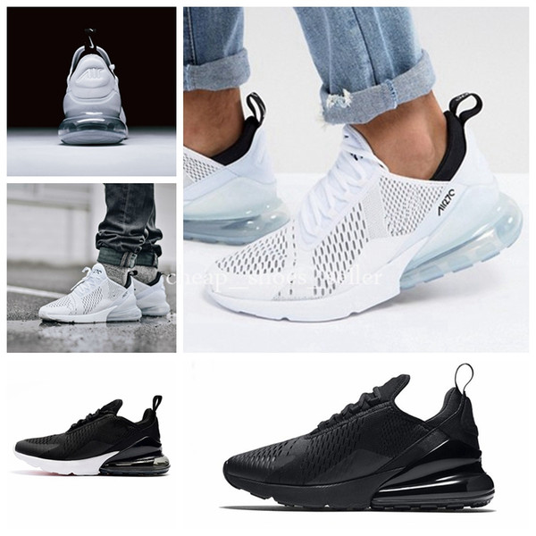 548ec992cfe9 Triple Black White 270 Shoes for Mens Women Shoes maxes Pink Just do it  Womens Sneakers Running Air Shoe Trainers Big size US12 US13