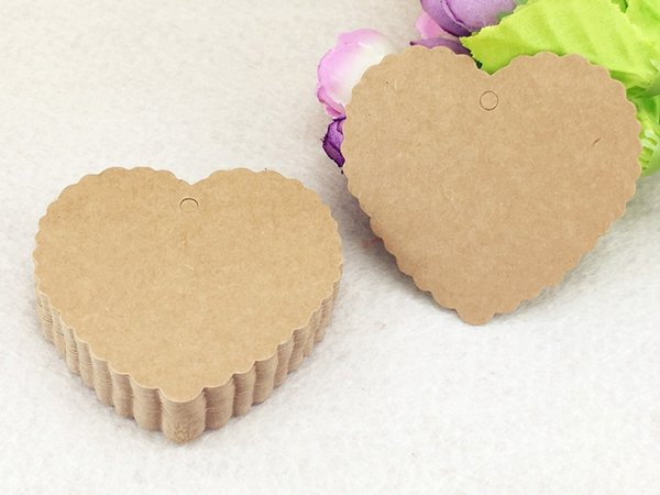 500pcs 6.5*6cm Heart Brown Kraft paper Price Tags DIY Gift Tags for Handmade cake/clothing/Wedding/Party Gift Bags/boxes