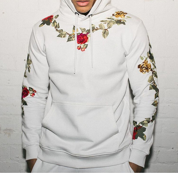 Mode Mens Stickerei Hoodied Hoodies 2019 Neue Ankunft Männer Streetwear Hoodie Lässige Herren Sweatshirts Größe M-3XL