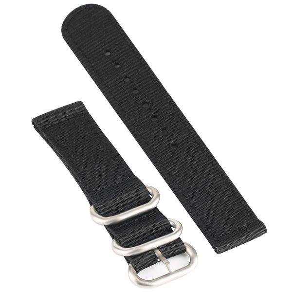 20 mm correa de reloj de nylon reloj de pulsera de reemplazo hebilla hebilla Relojes duraderos banda con 2 barras de resorte interruptor 3 anillos