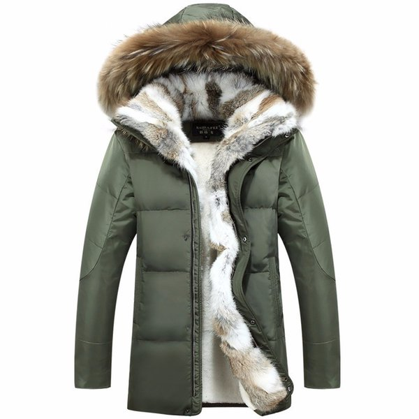 Pelz Winter Von Deisgner Pelz Ente Mann Mantel Unten Großhandel Herren Jacke Hood Frauen Kragen Puffer Mit Mäntel Marken Parka Kaninchen Warme Jacken wlkXuTOPZi