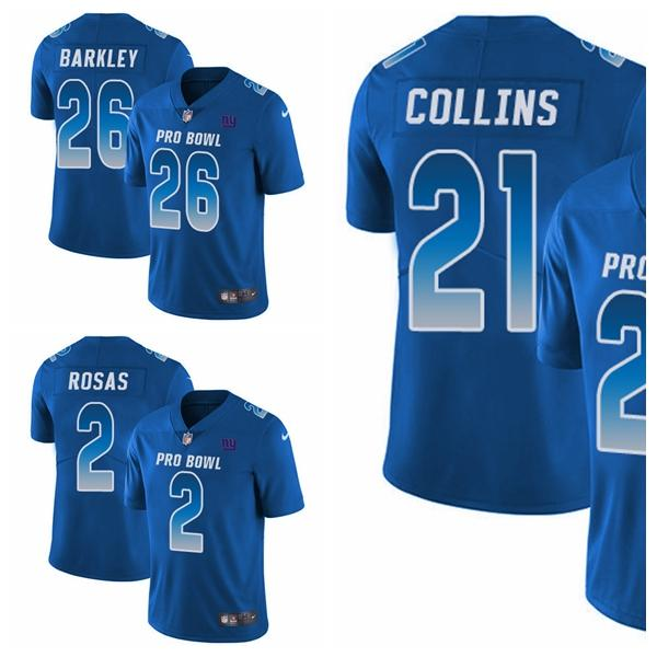 check out ec234 48209 New York Men'S Youth Women'S Saquon Barkley Landon Collins Limited Football  Jersey Giants Royal Blue NFC 2019 Pro Bowl Cheap Suits Formal Wear From ...