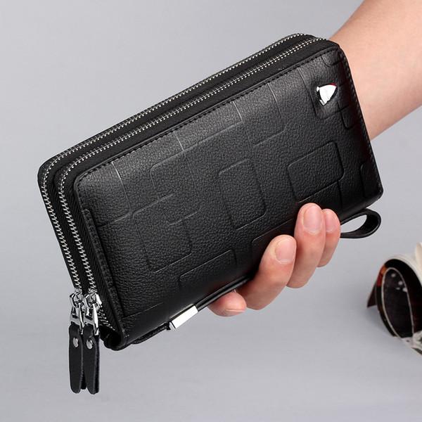 2019 Double zipper designer wallets luxury purses mens wallet Long women wallets Genuine Leather designer card holder purses