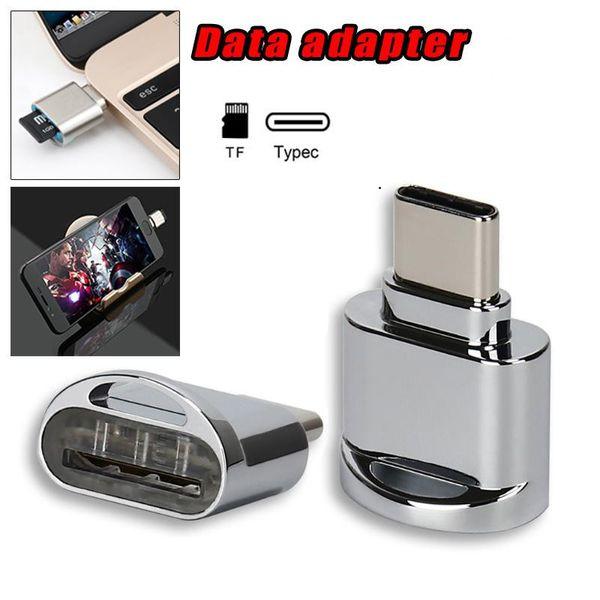 Lector de tarjetas portátil USB C para tarjetas Micro SD Micro SD a TypeC Transferencia de datos del adaptador USB para S8 LG G6 Huawei MacBook
