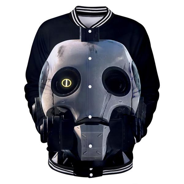 Frdum 3D Love Death Robots Long Sleeve Casual Baseball Jacket Women/men Clothes popular Jacket Women's Clothing